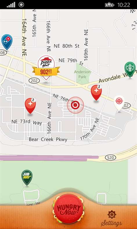 Hungry Now Fast-Food Locator Screenshots 2