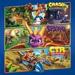 Crash™ + Spyro™ Triple Play Bundle Logo