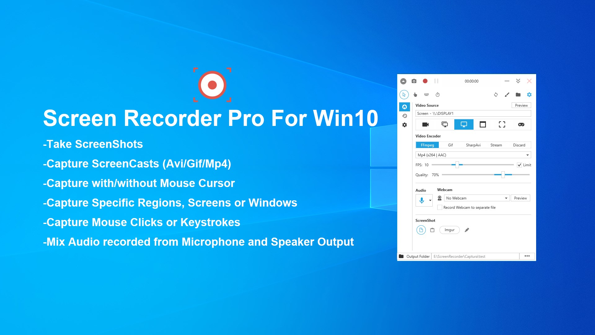 record my screen windows 10 free