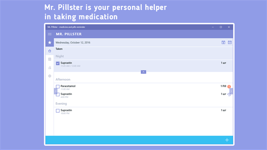 Mr. Pillster - pill reminder & medication tracker screenshot 1