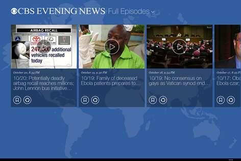 cbs news app for windows 8