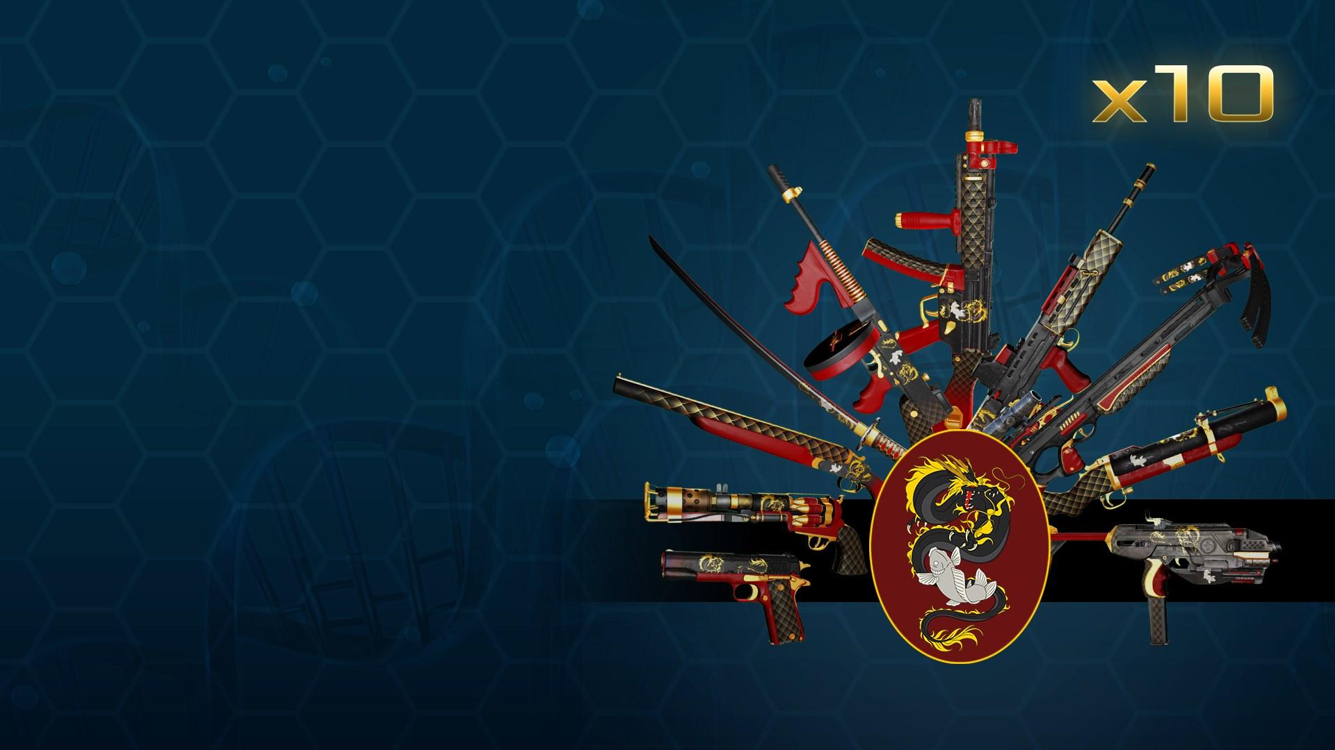 Dragon & Koi Tier 2 Weapon Skin Bundle