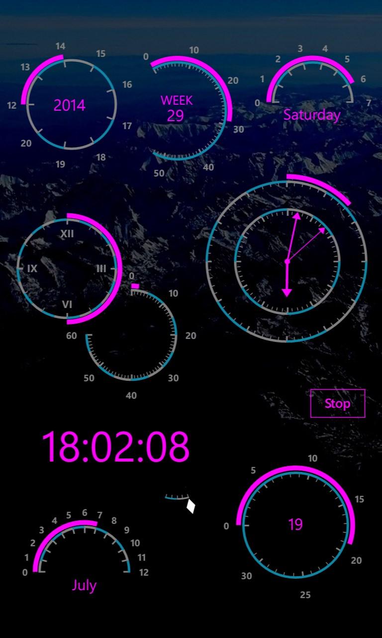Modern Clock XIV