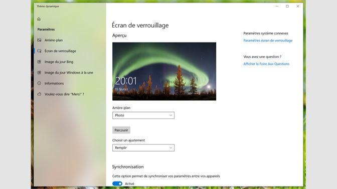 Recevoir Thème dynamique - Microsoft Store fr-FR