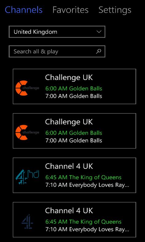 MyIPTV Player – (Windows Phone Apps) — AppAgg