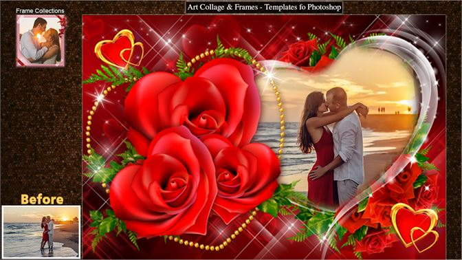 Art Collage & Frames - Templates fo Photoshop for Windows 10 free