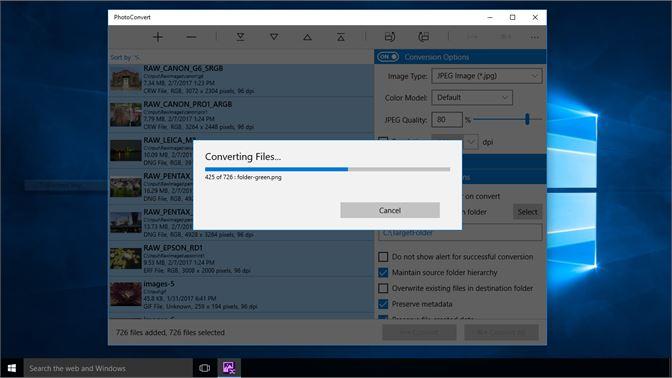 converting raw to jpeg windows