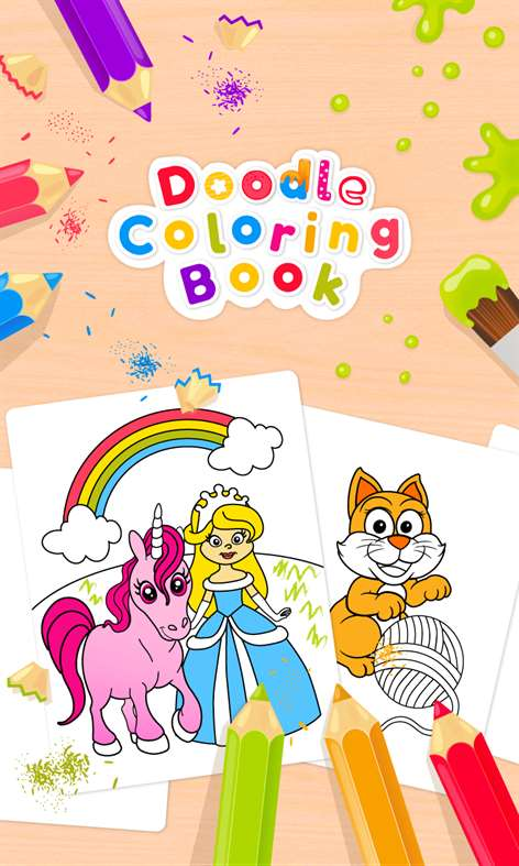 Get Doodle Coloring Book