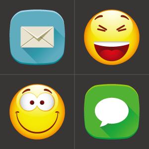 Get emoji keys chat - sms mail emoti emoticons smile