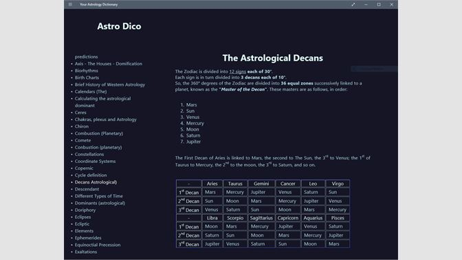 Buy Your Astrology Dictionary - Microsoft Store