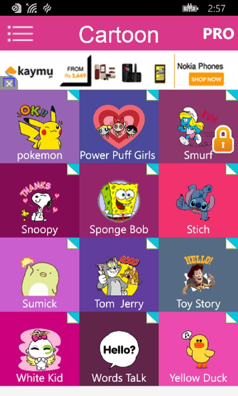 Cartoon Emoji For WhatsApp,Facebook & All SNS for Windows 10