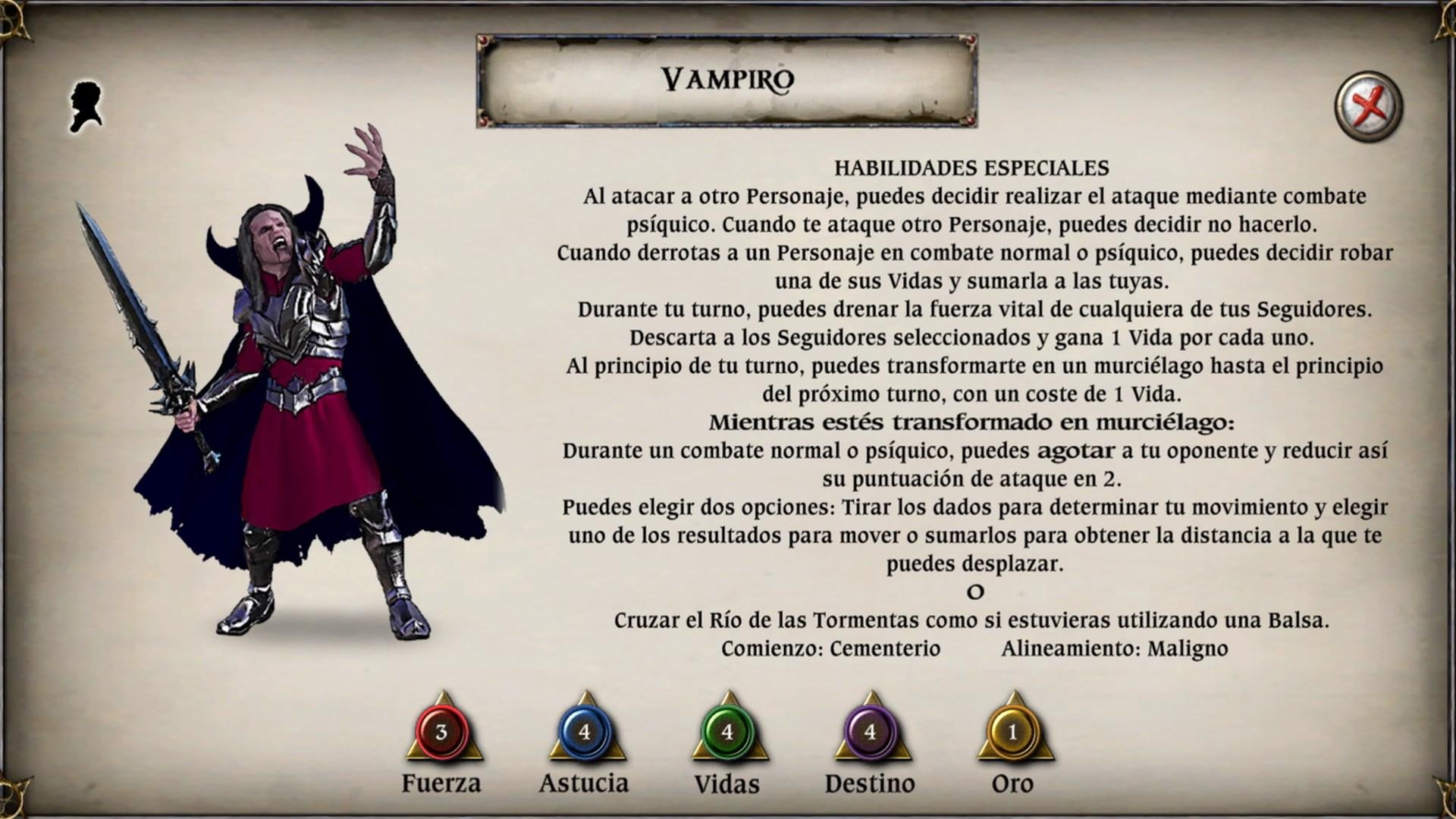 Talisman: Digital Edition - The Vampire Character Pack