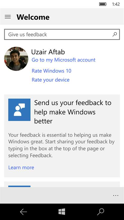Get feedback hub microsoft store screenshot feedback hub home page ccuart Images