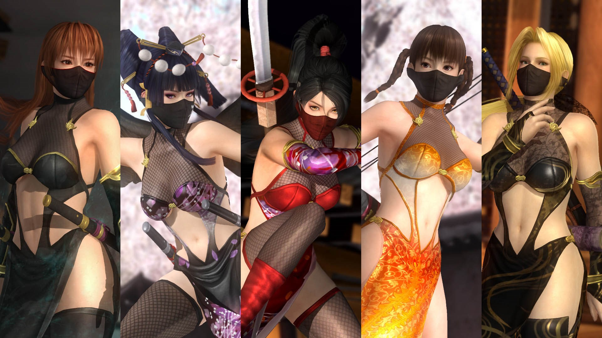 DOA5LR Ninja Clan 2 Costume Set
