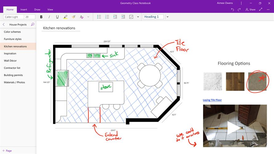 OneNote for Windows 10 Screenshot