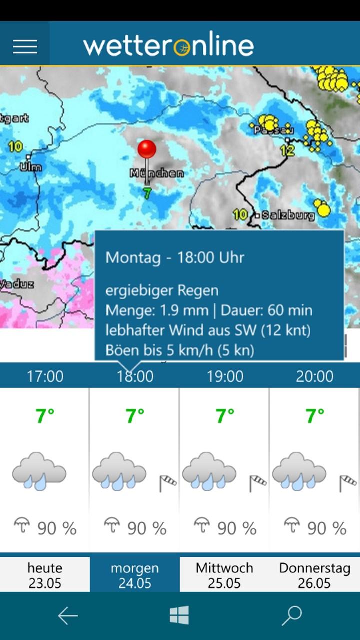 Wetteronline Regenprognose