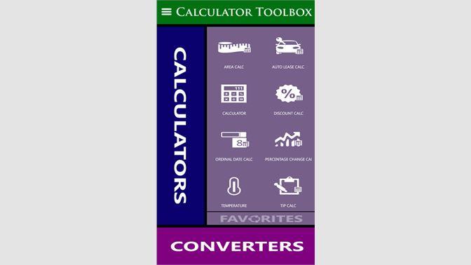 Get Calculator Toolbox (Free) - Microsoft Store