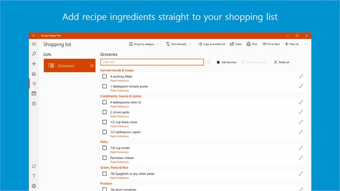 get recipe keeper microsoft store