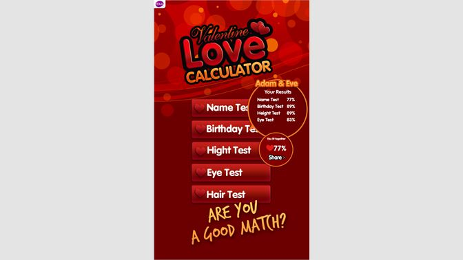Get Love Tests Calculator - Microsoft Store