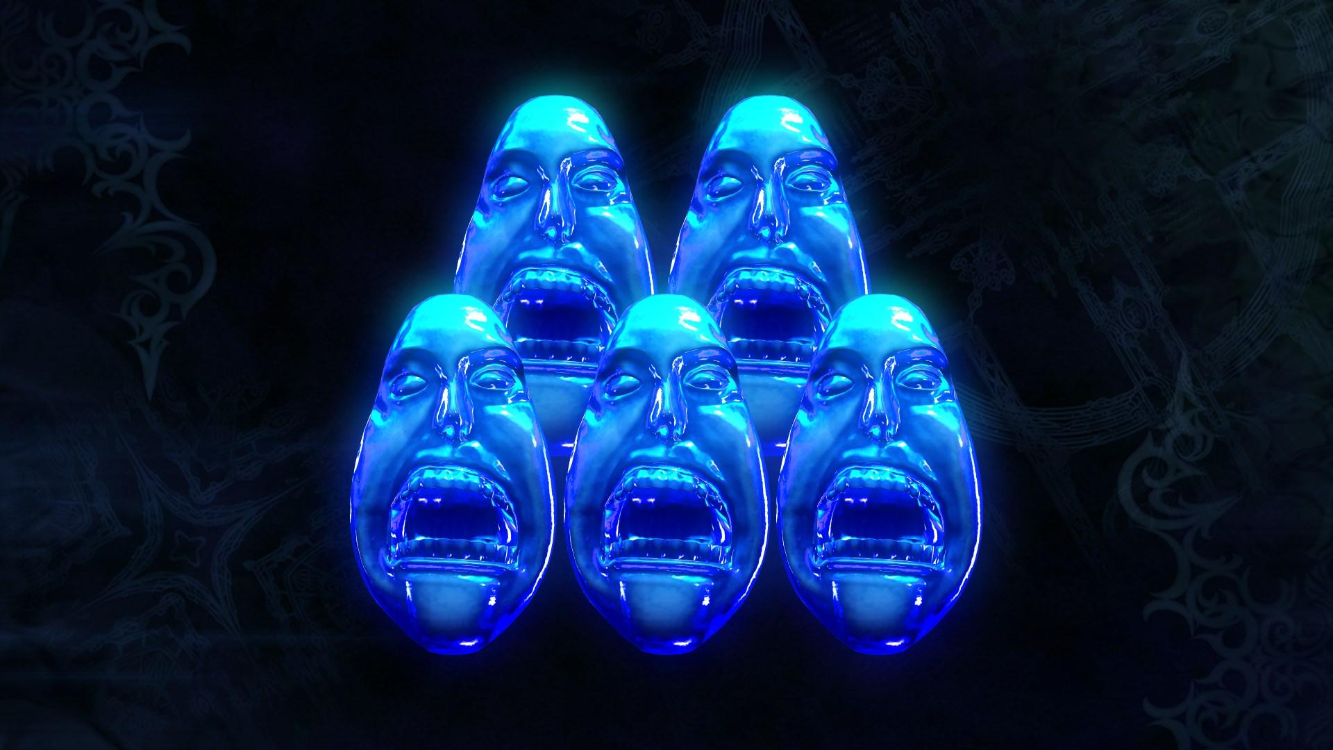 5 Blue Orbs