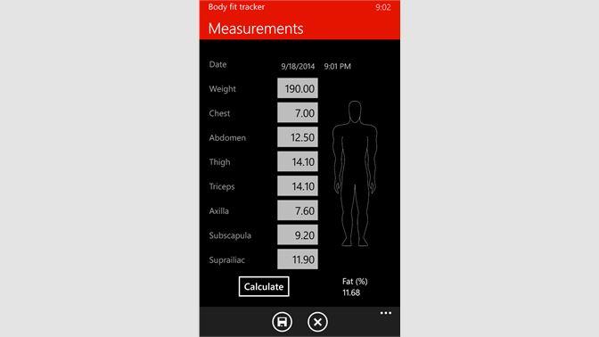 Get Body fat tracker - Microsoft Store