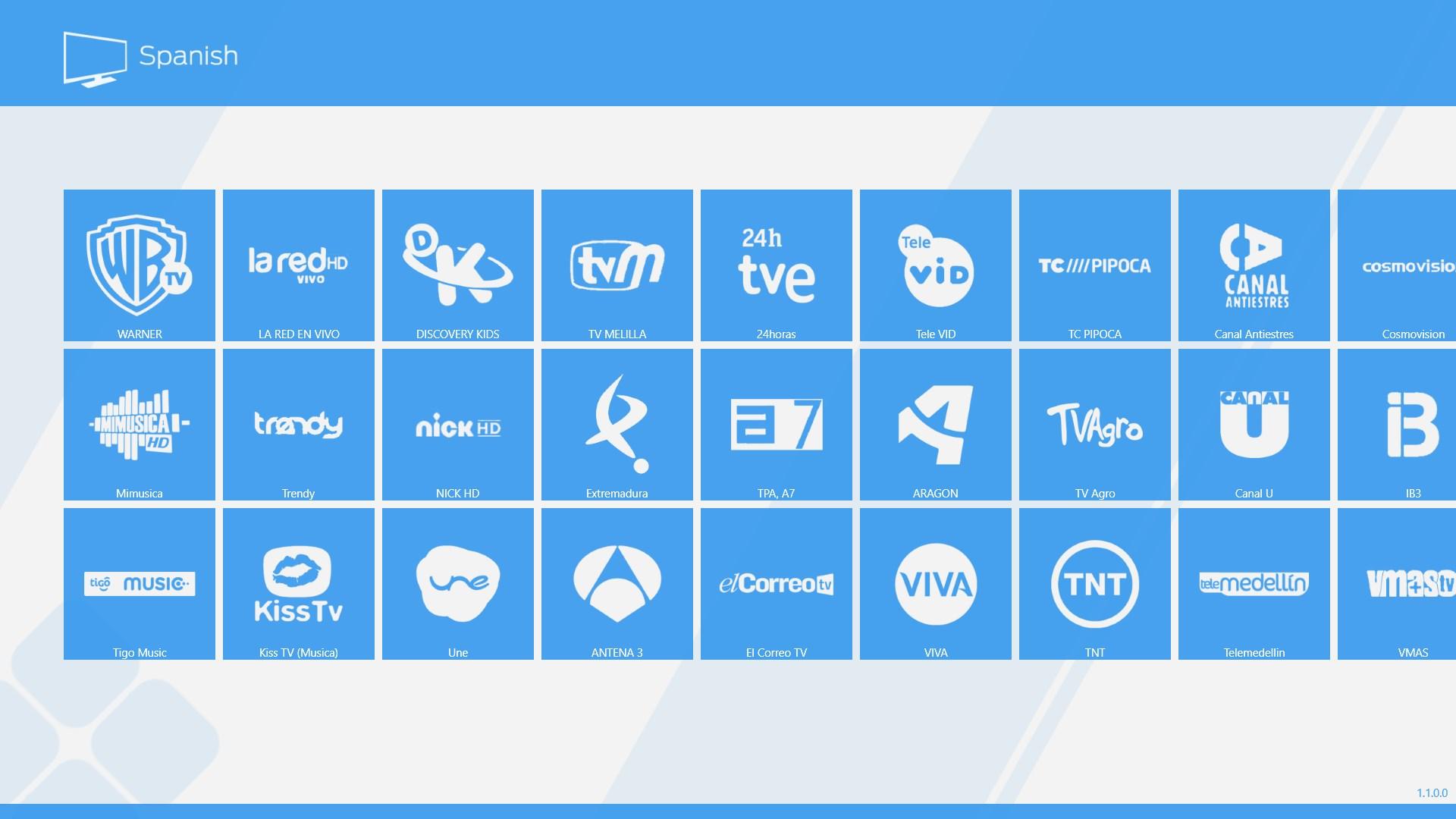 Spanish TV for Windows 10