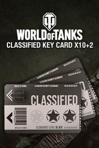 World of Tanks - 10 Classified Key Cards + 2 Bonus!