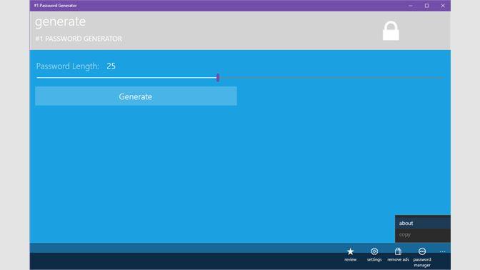 Get #1 Password Generator - Microsoft Store