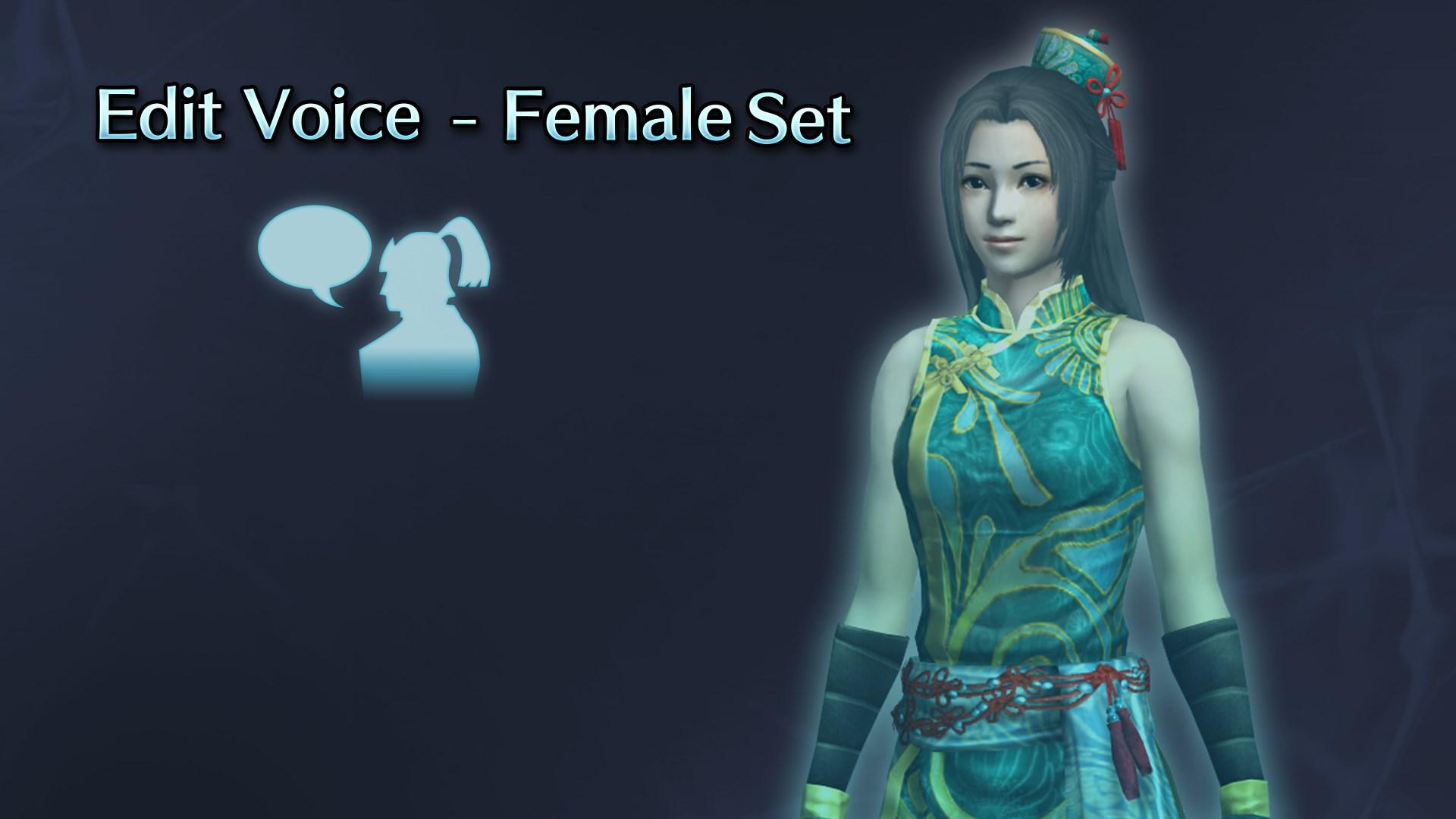 Edit Voice - Female Set