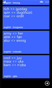English - Uzbek Flash Cards screenshot 8