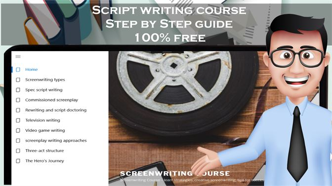 Get Script writing course - screenwriting step by step guide