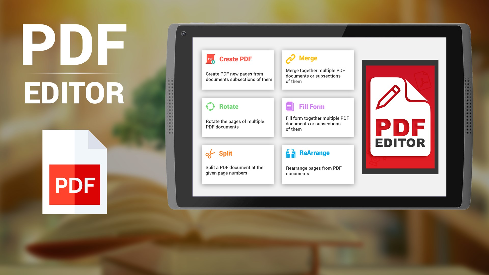 Get PDF Editor - Reader, View, Share, Splitter, Fill Forms