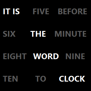 The WordClock