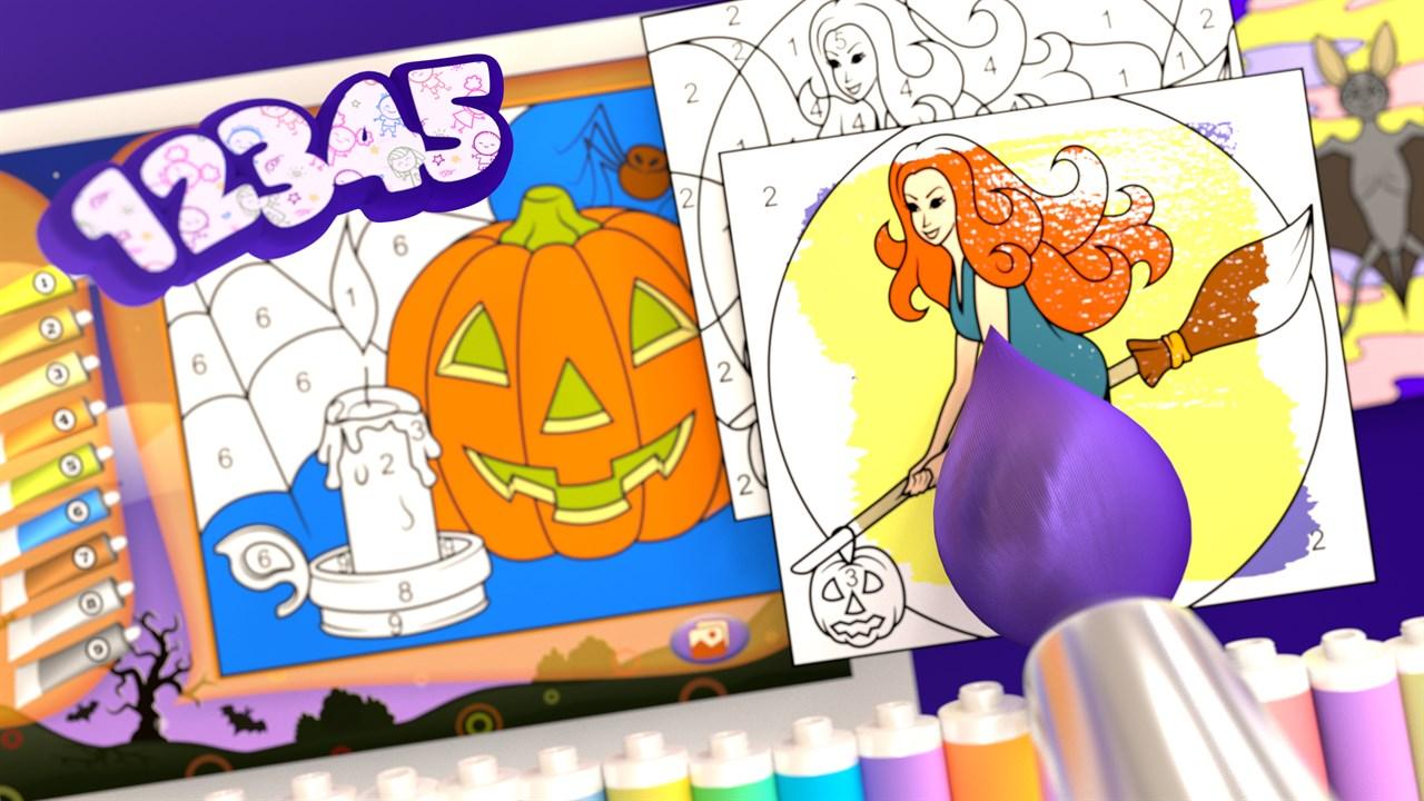 Comprar Halloween Libro Para Colorear Microsoft Store Es Pe