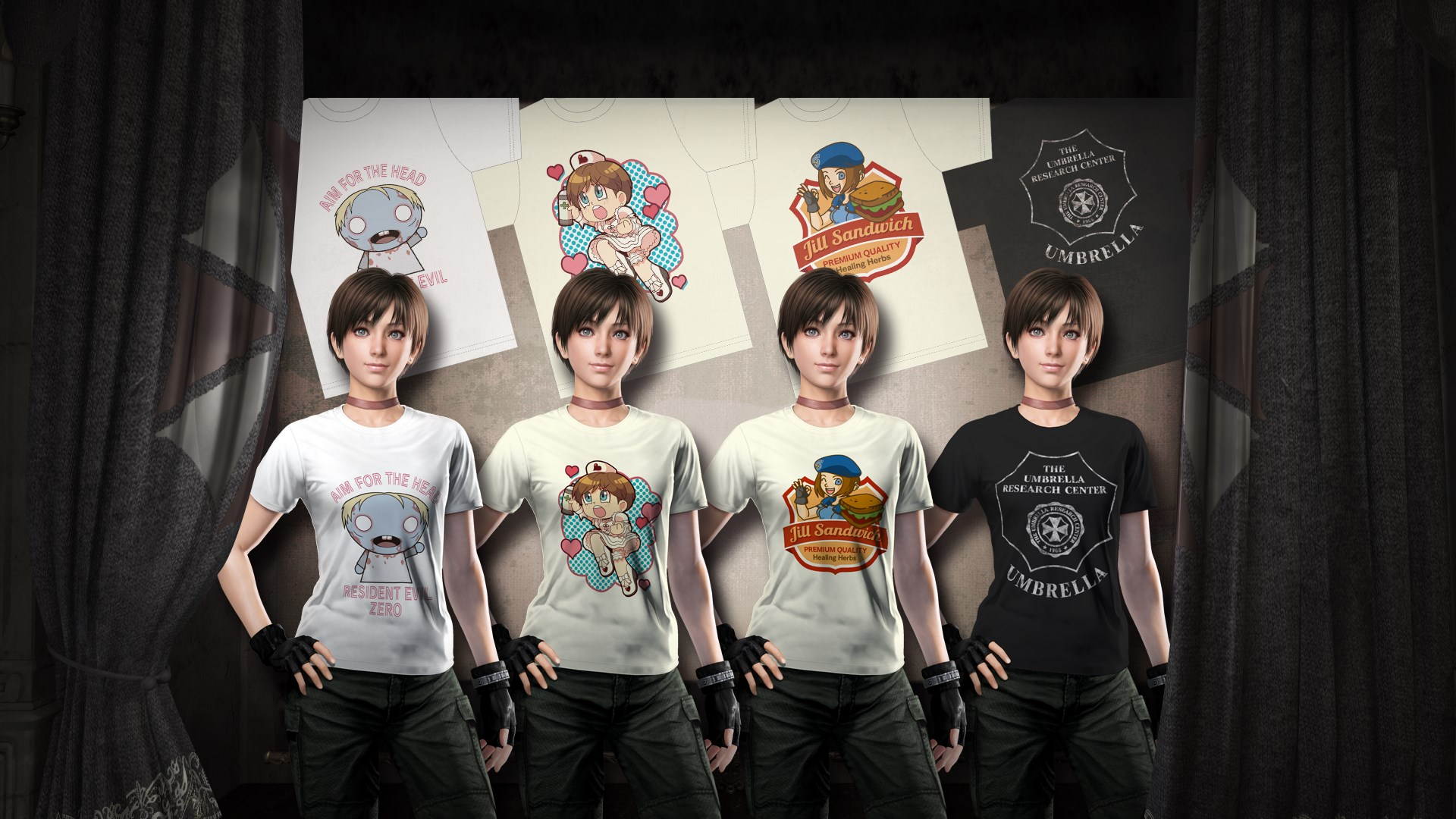 Resident Evil 0 Fan Design T-shirt Pack