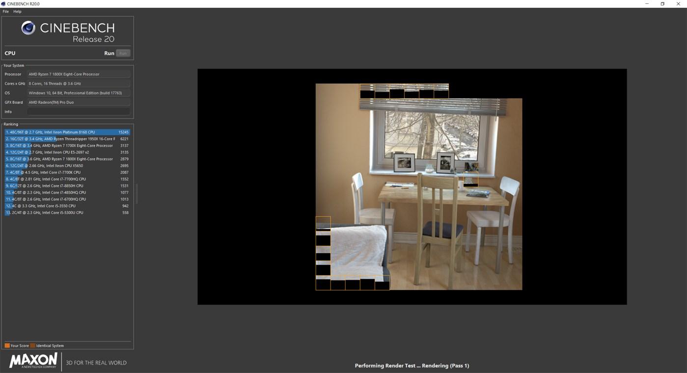 CINEBENCH full screenshot