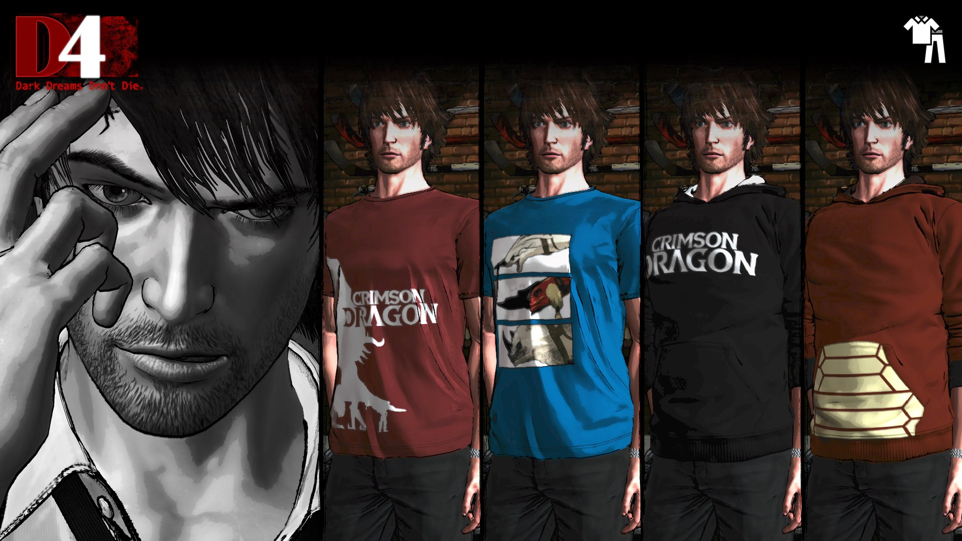 D4: Dark Dreams Don't Die - Crimson Dragon Clothing Set