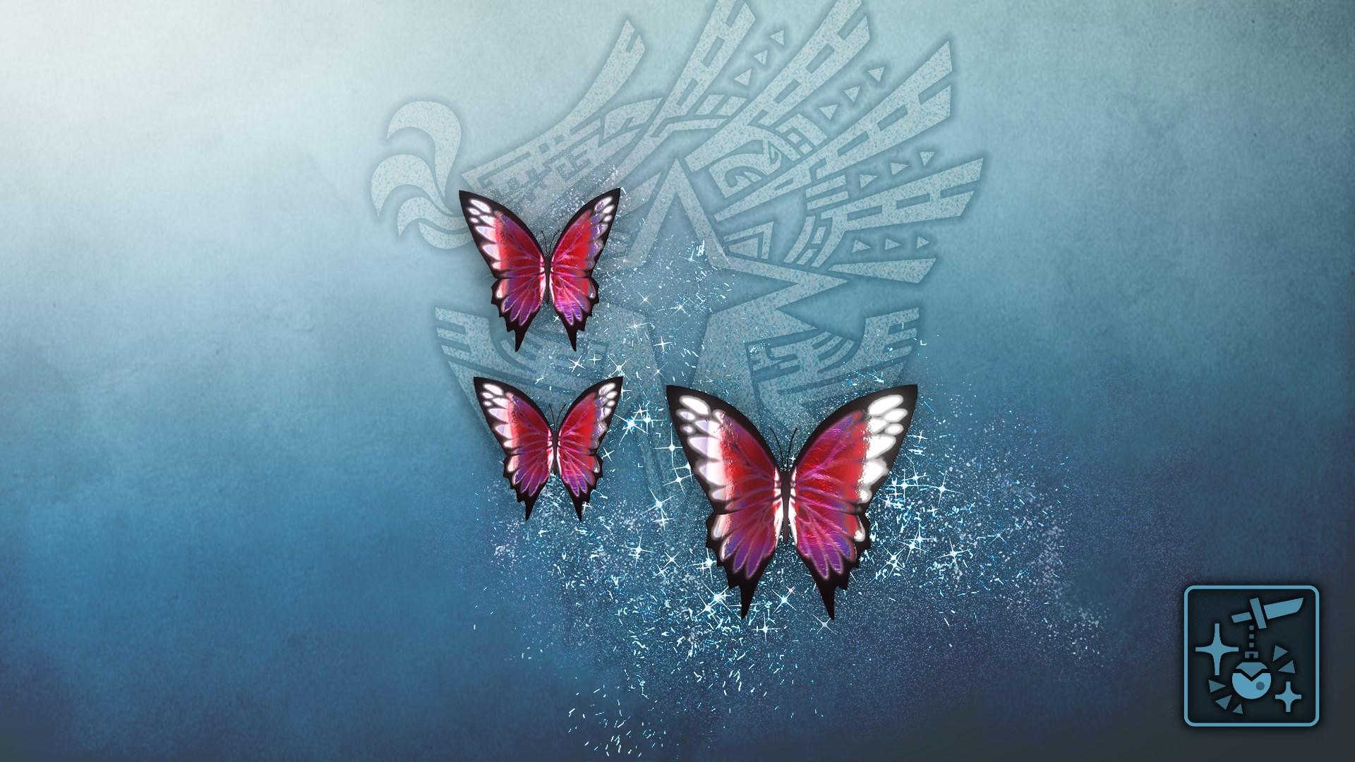 Anhänger: Phantom-Schmetterling (magenta)