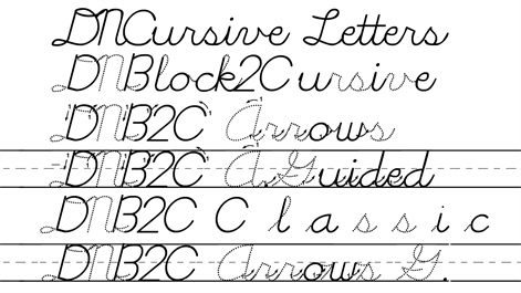 screenshot block2cursive eases the transition between block letters and linked style
