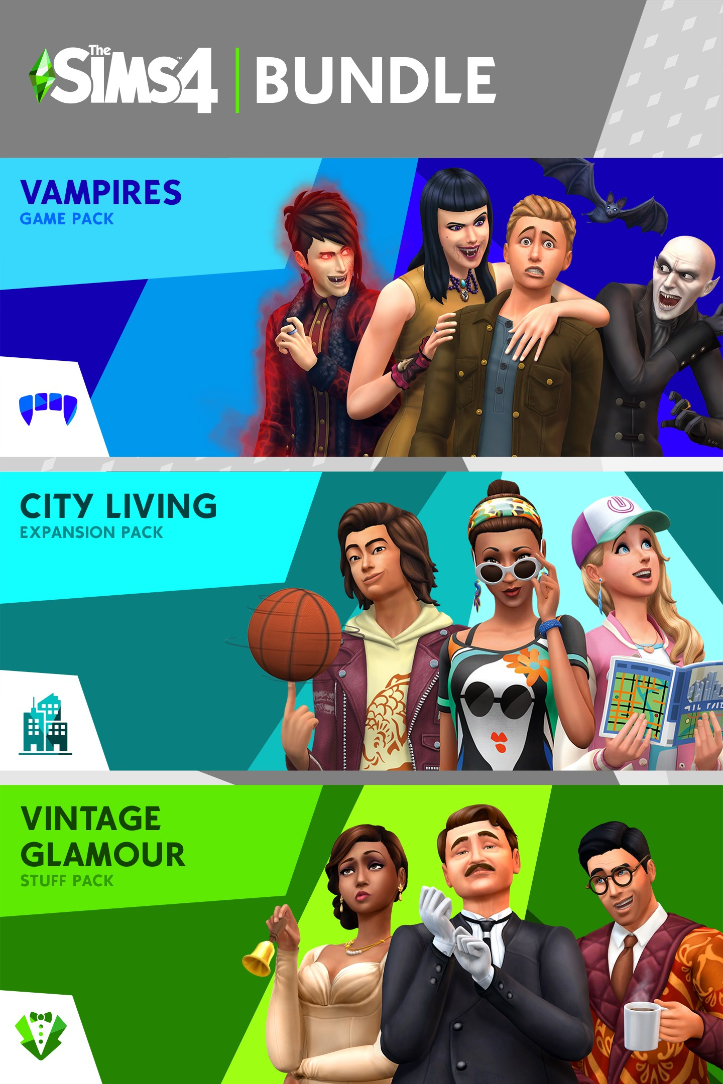 Buy The Sims 4 Bundle City Living Vampires Vintage Glamour Stuff Microsoft Store