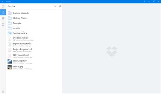 Dropbox screenshot 1