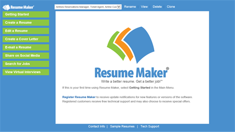 screenshot all the tools you need to write a professional resume are available on the - Professional Resume Maker