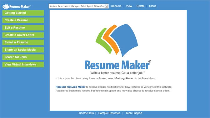All The Tools You Need To Write A Professional Resume Are Available On Main Menu