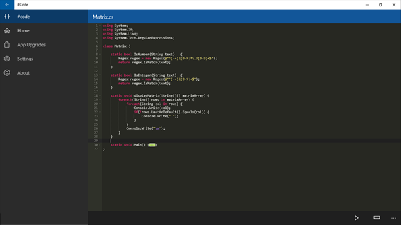 Developer Submission: #Code - An Online Compiler for Windows 10