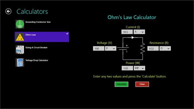 Buy electric toolkit microsoft store wiring diagram screenshot ohms law calculator keyboard keysfo Gallery