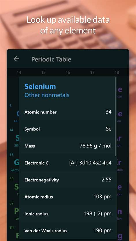 Get atom periodic table tests microsoft store en mg screenshot look up available data of any element urtaz Image collections