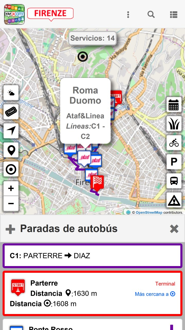 Captura de Pantalla 8 de Firenze dove, cosa... Km4city para windows