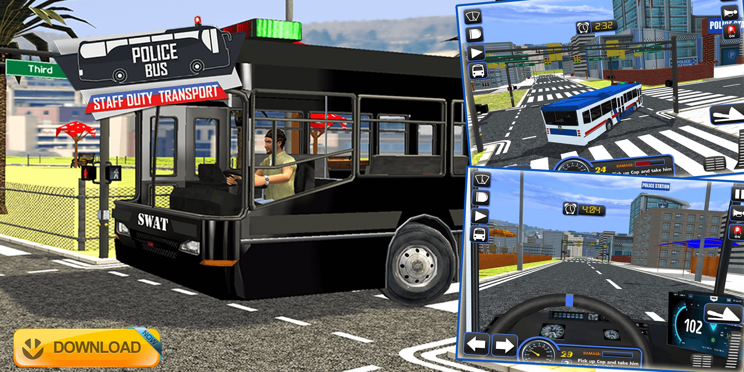 f87c07e6c Get Police Bus Staff Duty Transport 3D - Pick and Drop - Microsoft Store