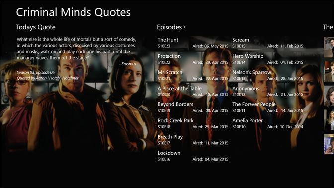 Buy Criminal Minds Quotes - Microsoft Store