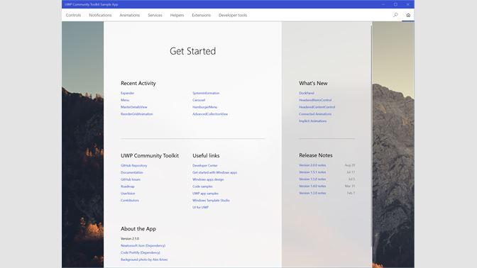 Get Windows Community Toolkit Sample App - Microsoft Store